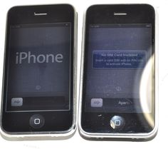 Lot of 2 Apple iPhones 3GS-A1303 -AT&T 8GB & 16GB-No SIM Cards-Works/Wiped#2 | eBay