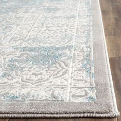 Safavieh Passion Watercolor Turquoise/ Ivory Distressed Rug - 6' 7 Square