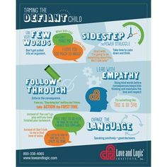 Dealing with a Defiant child-the love and logic way. Saving this!!!!
