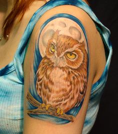 Eastern Screech Owl Tattoo
