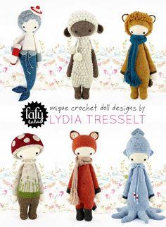 Amigurumi Dolls By Artist Lydia Tresselt : 1000+ ideas about Crochet Dolls on Pinterest Amigurumi ...