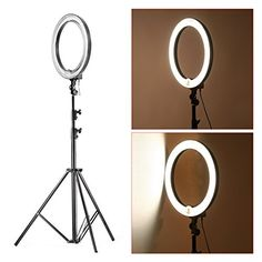 Neewer Dimmable equivalent) Continous Camera Photo Video Ring Light Kit, includes: Fluorescent Ring Light +PRO 9 Heavy Duty Light Stand+ Bag for Ring Light Diva Ring Light, Led Ring Light, Recording Studio Setup, Photo Studio Lighting, Accessoires Iphone, Luz Led, Photo Accessories, Room Themes, Aluminium Alloy