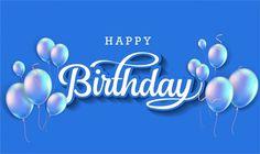 Happy Birthday Hand Lettering, Happy Birthday Writing, Happy Birthday Calligraphy, Happy Birthday Wishes Photos, Birthday Wishes Funny, Happy Birthday Greeting Card, Happy Birthday Balloons, Happy Bday Man, Happy Birthday To Him