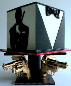 James Bond cake, neither shaken nor stirred.