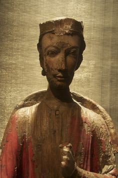 the wood carving of saint olaf