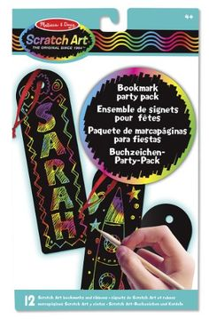 melissa u0026 doug scratch art bookmark party pack activity kit 12 bookmarks