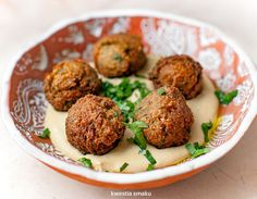 Falafele Vegetarian Recipes, Cooking Recipes, Falafel, Party Snacks, Hummus, Baked Potato, Foodies, Food And Drink, Ethnic Recipes