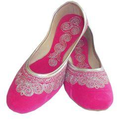 Wonderful #Indian #Handmade #Leather #Women #Shoes #Mojari #Footwear http://kalracreations.com/handicraft/rajasthani-mojaris/women/indian-handmade-stunning-velvet-silver-embroidered-women-mojari-204.html