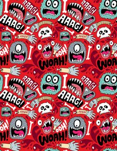 AAAGHHH! PATTERN! Art Print - chris piascik
