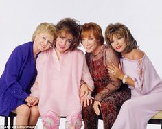 Legends: (L-R) Debbie Reynolds, Elizabeth Taylor, Shirley MacLaine, and Joan Collins starr...