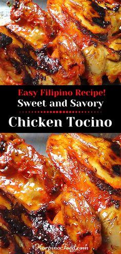 Chicken Recipes Filipino, Chicken Leg Recipes, Easy Asian Recipes, Easy Dinner Recipes, Ethnic Recipes, Pinoy Food Filipino Dishes, Chicken Adobo Filipino, Dinner Ideas, Chicken Tocino