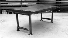 Discover the Artisan Table by Steel Vintage. Customise yours today or get in touch for a bespoke quote. Industrial Style Dining Table, Steel Dining Table, Vintage Industrial, Office Furniture, Wood Furniture, Furniture Ideas, Office Table, Solid Oak, Artisan