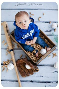 Best Ideas For Baby Photography Boy 1 Year Guys Baseball First Birthday, 1st Boy Birthday, Half Birthday, Birthday Ideas, Birthday Stuff, Baby Boy Pictures, Baby Photos, 6 Month Baby Picture Ideas Boy, Infant Pictures