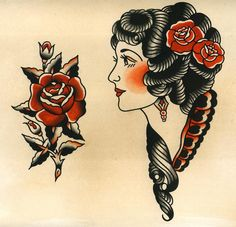 Vintage Sailor Jerry http://www.retroj.am/traditional-tattoos/