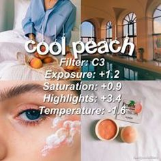 cool peach for best results, lower the saturation to ! - - Makeup Tips For Redheads - vsco Vsco Pictures, Editing Pictures, Photography Filters, Photography Editing, Fotografia Vsco, Best Vsco Filters, Photo Editing Vsco, Photo Editing Free, Aesthetic Filter