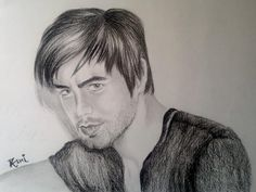 Discover Sketching by Rashi Sagar on Touchtalent. Touchtalent is premier online community of creative individuals helping creators like Rashi Sagar in getting global visibility. Enrique Iglesias, Sketching, My Hero, Artsy, Portrait, Celebrities, Celebs, Headshot Photography, Portrait Paintings