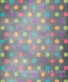 EPS Backdrop :: Sherbet Dots 5x7