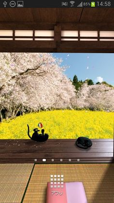 """View of the outside from a small Japanese-style room.<br>Customize room and background!<br>Cat basking in the sun. Cherry blossom petals dance around.<br>This wallpaper feel the coming of spring.<p>Live wallpaper of panorama VR!<p>*To use:Menu>Wallpapers>LiveWallpapers->Japanese Scenery - Spring Trial<p><a href=""""https://play.google.com/store/apps/details?id=com.dmf.wall.DMFLwpSub"""">The memberships of Dream Monday Family are not displayed the Ad on the this wallpaper.</a><p>Full version<br><a…"""