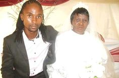 Buti Mphethi & his mother  wife Francnah Makunyane on their wedding day   ---   In a sleepy village known as Slovo Park near Siyabuswa, S...