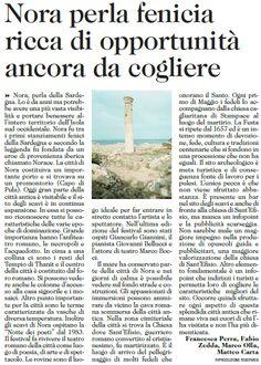 #Nora perla fenicia ricca di opportunità ancora da cogliere oggi L'Unione Sarda dedica uno speciale sull'area archeologica di Nora  #Pula #Sardegna #VisitPula https://www.facebook.com/Pula.it/photos/a.148263651963894.3356.142246605898932/275970149193243/?type=1&theater
