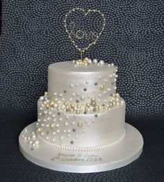 Pearl Anniversary Cake  on Cake Central