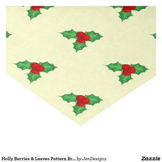 Holly Berries & Leaves Pattern Bright Tissue Paper