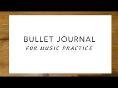 How to Bullet Journal | Music Practice - YouTube
