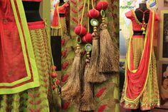 lehnga Saree Tassels, Indian Accessories, Lehenga Style, Lahenga, Tassel Jewelry, Western Outfits, Blouse Designs, Hand Embroidery, Embellishments