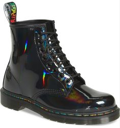 best=Dr Martens 1460 Rainbow Patent Boot Women Nordstrom That Bridal Red Doc Martens, Doc Martens Style, Doc Martens Outfit, Doc Martens Boots, Doc Martens Women, Holographic Boots, Doc Martens Stiefel, Nike Roshe, Shoe Company