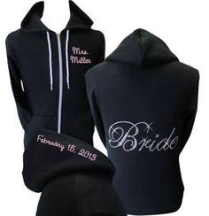 Custom Rhinestone Bride Hoodie