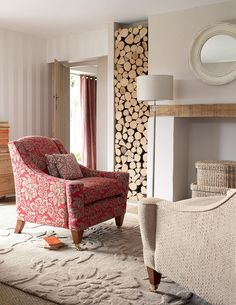 wood logs to fill space by the side of the fireplace. Where to get these?