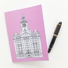 Liverpool Journal, Pink Journal, A5 Notebook, Recycled Journal, Blank Journal, Travel Journal, Liver Building Journal by PeonyandThistle on Etsy https://www.etsy.com/listing/212855149/liverpool-journal-pink-journal-a5