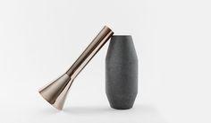 LaSelva design studio: 2 piece vase, metal + concrete