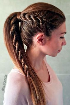 Beautiful DIY Hairstyles: Easy Rope Braid Hair Tutorial ★ See more: lovehairstyles. Braided Ponytail, Ponytail Hairstyles, Diy Hairstyles, Pretty Hairstyles, Straight Hairstyles, Hairstyle Ideas, Hairstyle Braid, Latest Hairstyles, Wedding Hairstyles