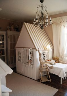 Make the house look like a tent for Jax's room