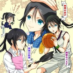 Tags: Anime, Pixiv Id 5086419, K Project, Yatogami Kuroh, Cooking Pan, Basketball, Apron