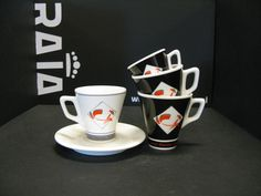 Different #cups and #saucers for #dutchbaristacoffee in Beek, The Netherlands