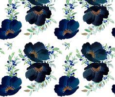 Blueberry Fields  fabric by shopcabin on Spoonflower - custom fabric