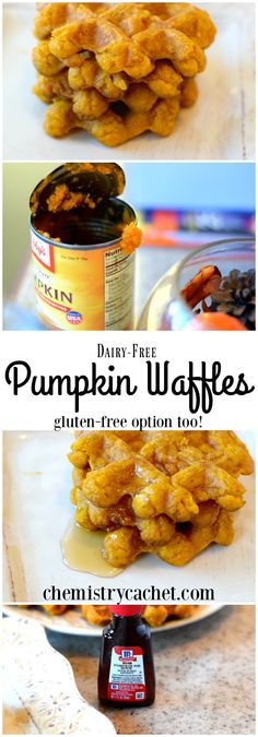 Dairy-free pumpkin waffles plus gluten-free options too. These are the ...