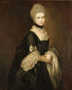 1763ca. Maria Walpole, Countess of Waldegrave, later Duchess of Gloucester in a black mourning dress by Thomas Gainsborough (Adam Williams Fine Art)