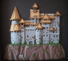 3D Draculas Castle Hand Cut Paper Cutting in by themoonlightmuse, $300.00