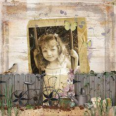 Credit: Garden Gate from Snickerdoodle Designs and Mel Designs #SnickerdoodleDesigns  #MelDesigns