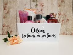 Cute personalised lotions and potions storage container for The perfect gift for a girl's birthday, bathroom storage or even bedroom storage x Little Girl Pictures, My Little Girl, Dog Photo Frames, Sweet Jars, Dog Treat Jar, Gotcha Day, Personalised Frames, Vinyl Labels, Jar Gifts
