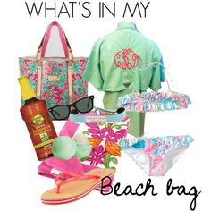 What's in my beach bag! by southernprepstyle, via Polyvore