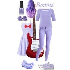 like the guitar touch. ppl seem to keep forgetting that bonnie plays the guitar! Casual Cosplay, Cosplay Outfits, Cosplay Costumes, Halloween Costumes, Cosplay Ideas, Costume Ideas, Fnaf Costume, Fnaf Cosplay, Bonnie Costume