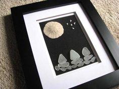 Sand Dollar Picture - Sailing Ships  - Black Frame Nautical - Christmas Gift. $49,00, via Etsy.