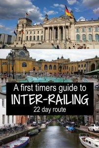 22 day interrail route through Europe for first time backpacking #interrail #inter-rail #europe #interrailing
