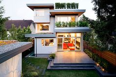 A LEED Platinum home in the Dunbar neighborhood of Vancouver, Canada, designed by Frits de Vries Architect, Ltd.