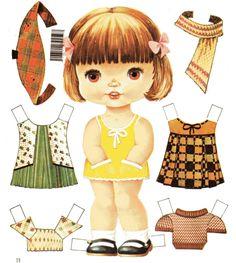 Origami, Journal Stickers, Little Princess, Paper Dolls, Free Printables, Paper Crafts, Scrapbook, Activities, Retro