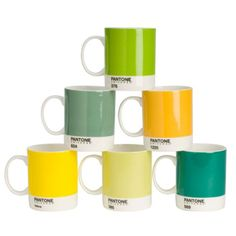 Pantone Bone China Mug Set-this is something Lisa needs :)